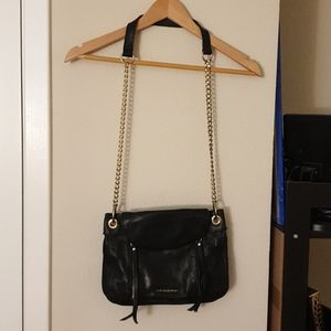 Cynthia Rowley black leather bag